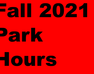 Fall 2021 Park Hours